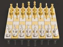 fondo di scacchi 3D Immagine Stock
