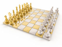 fondo di scacchi 3D Immagini Stock