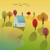 Fondo di scena di autunno royalty illustrazione gratis