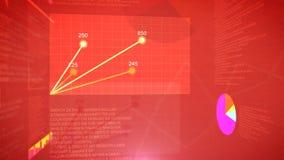 Fondo di schermo del grafico di borsa valori Immagine Stock Libera da Diritti