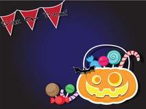 Fondo di scherzetto o dolcetto del partito di Halloween Fotografia Stock