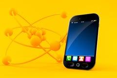 Fondo di scienza con lo Smart Phone Fotografia Stock