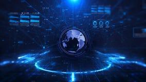 Fondo di scienza e di tecnologia digitale stock footage