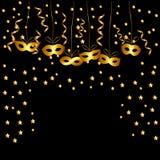 Fondo di scintillio dell'oro con i coriandoli della luce di lustro della scintilla illustrazione vettoriale