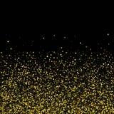 Fondo di scintillio dell'oro con le scintille su fondo bianco ENV 10 royalty illustrazione gratis