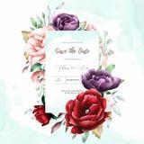 Fondo di scopo della struttura floreale dell'acquerello multi royalty illustrazione gratis