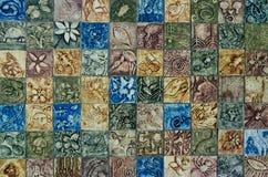 Fondo di scultura di pietra della parete Fotografie Stock Libere da Diritti