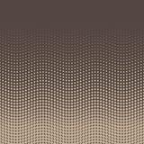 Fondo di semitono dei punti nella disposizione ondulata pendenza sommità fondo di Beige-Brown Retro vettore astratto di stile del Immagini Stock Libere da Diritti