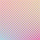 Fondo di semitono del modello del cerchio - grafico di vettore di pendenza dai punti nelle dimensioni varianti Immagine Stock