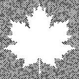 Fondo di semitono di autunno isolato foglia di acero illustrazione vettoriale