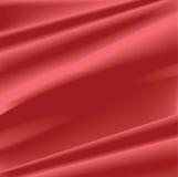 Fondo di seta rosso Fotografia Stock Libera da Diritti