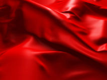 Fondo di seta rosso dell'estratto del panno Fotografie Stock Libere da Diritti