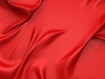 Fondo di seta rosso regolare del raso Immagini Stock