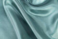 Fondo di seta, struttura di tessuto brillante costolato verde Fotografia Stock Libera da Diritti
