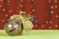 Fondo di Sleigh Bell di Natale Fotografie Stock