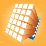 Fondo di Smartphone App 3d Fotografia Stock