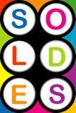 Fondo di Soldes illustrazione vettoriale