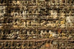 Fondo di sollievi del vecchio tempio fotografie stock libere da diritti