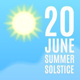 Fondo di solstizio di estate Fotografia Stock Libera da Diritti