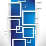 Fondo di sovrapposizione di concetto dei quadrati di vettore Fotografia Stock