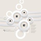 Fondo di sovrapposizione di infographics degli anelli di vettore Fotografie Stock