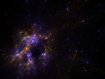Fondo di spcae del cielo notturno con la nebulosa e le galassie Immagini Stock