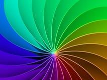 fondo di spettro dell'arcobaleno 3d Fotografie Stock Libere da Diritti