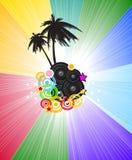 Fondo di spettro dell'arcobaleno per l'opuscolo o le alette di filatoio Immagini Stock