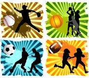 Fondo di sport Fotografia Stock Libera da Diritti