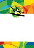 Fondo di sport del kajak Fotografia Stock