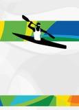 Fondo di sport del kajak Fotografie Stock