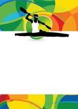 Fondo di sport del kajak Fotografie Stock Libere da Diritti
