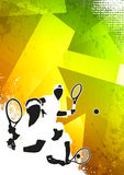 Fondo di sport di tennis Immagini Stock Libere da Diritti