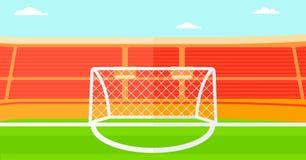 Fondo di stadio di calcio Fotografia Stock Libera da Diritti