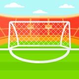 Fondo di stadio di calcio Immagine Stock