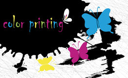 Fondo di stampa a colori Immagini Stock