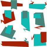 Fondo di stile di Origami ed insieme dell'insegna Immagini Stock Libere da Diritti