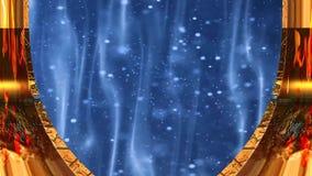 Fondo di stile di Natale con effetto 01 del focolare e della neve royalty illustrazione gratis