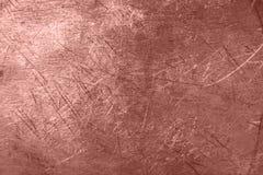 Fondo di struttura del metallo della stagnola di Rose Gold fotografie stock