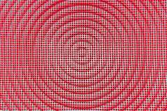 Fondo di struttura del metallo Griglia quadrata con il cerchio Retro annata fotografia stock