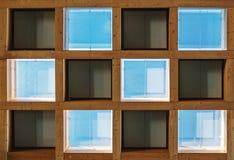 Fondo di struttura del modello dei blocchi quadrati Fotografia Stock