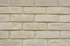 Fondo di struttura del muro di mattoni alla luce di marrone beige crema antico Immagini Stock Libere da Diritti
