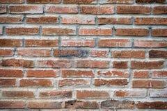 Fondo di struttura del muro di mattoni, Clay Brick Old rosso Fotografie Stock