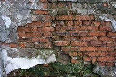 Fondo di struttura del muro di mattoni della crepa Immagine Stock
