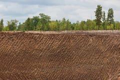 Fondo di struttura del suolo della terra dalla miniera di ferro Fotografia Stock