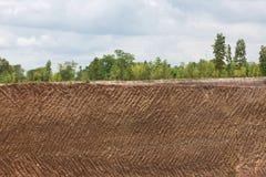Fondo di struttura del suolo della terra dalla miniera di ferro Fotografia Stock Libera da Diritti