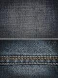 Fondo di struttura del tessuto dei jeans Fotografie Stock