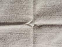 Fondo di struttura del tessuto del bianco sporco Fotografie Stock