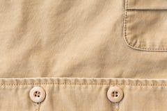 Fondo di struttura del tessuto di Brown, materiale del tessuto Fotografia Stock