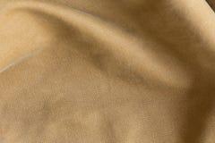 Fondo di struttura del tessuto di Brown, materiale del tessuto Immagine Stock Libera da Diritti